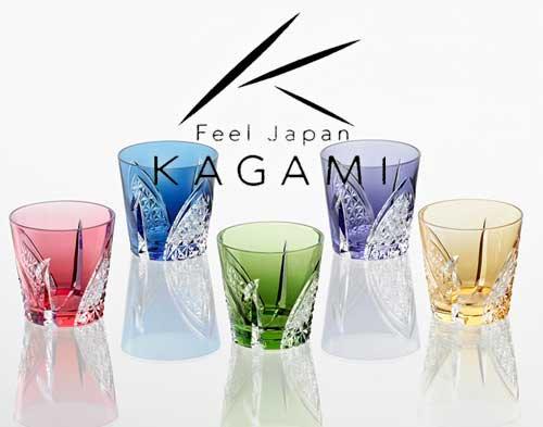 江戸切子(折鶴) 冷酒杯5脚セット [TS481-2782-5]|カガミクリスタル
