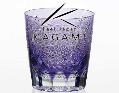 伝統工芸士 根本達也 - 江戸切子(藤) 紫色・焼酎ロックグラス [T705-2649-CMP]|カガミクリスタル