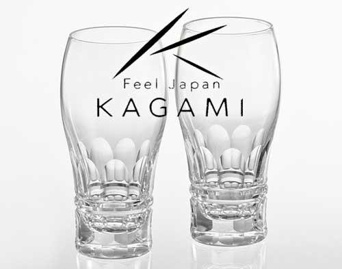 快適な泡立ちプレミアムペアビアグラス [TPS707-2547]|カガミクリスタル