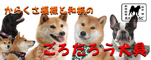 和柄 和風唐草 犬首輪 /ごろたろう犬具