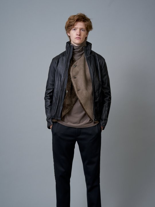 TROVE / SOLUMN LEATHER BLOUSON / BLACK
