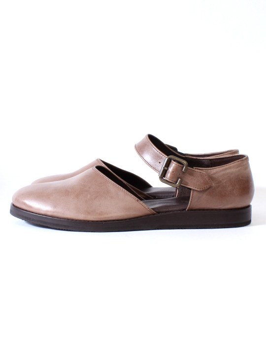 TROVE / LEAF LEATHER SHOES / GRAY BROWN
