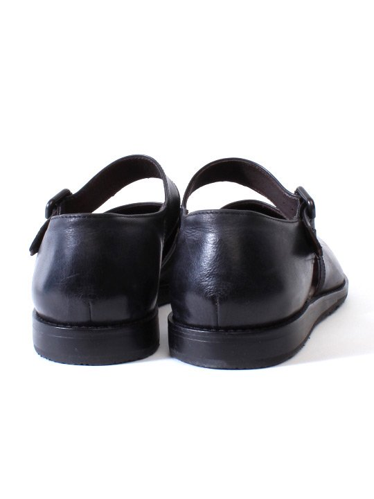 TROVE / LEAF LEATHER SHOES / BLACK