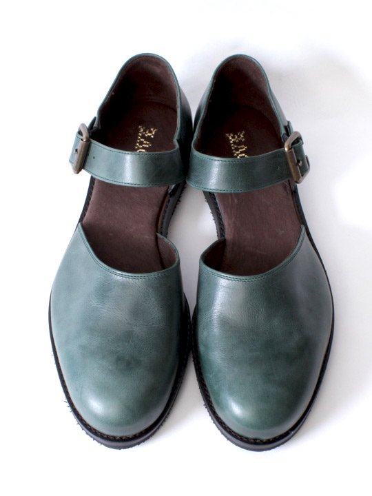 TROVE / LEAF LEATHER SHOES / GREEN