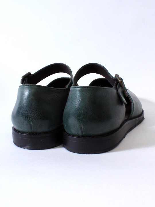 TROVE / LEAF LEATHER SHOES ( MEDALLION ) / GREEN
