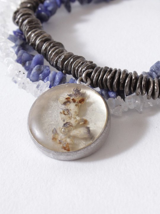 TROVE / DRY FLOWER NECKLACE / SALVIA photo