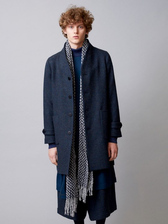 TROVE / MIX LONG MUFFLER / GRAY NAVY photo