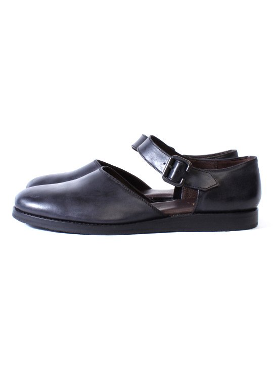 TROVE / LEAF LEATHER SHOES / BLACK photo