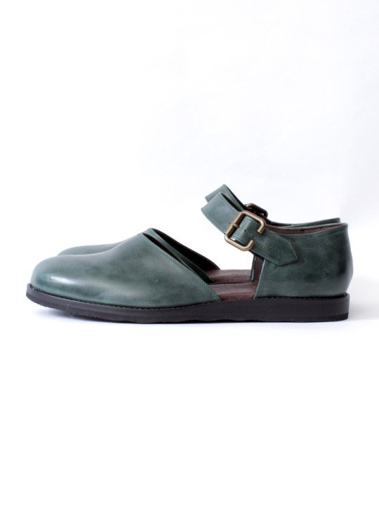 TROVE / LEAF LEATHER SHOES / GREEN photo