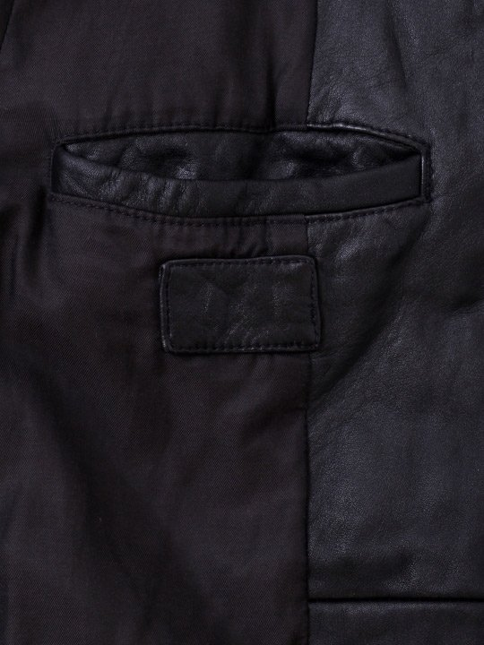 【予約商品】TROVE / SOLUMN LEATHER BLOUSON / BLACK photo