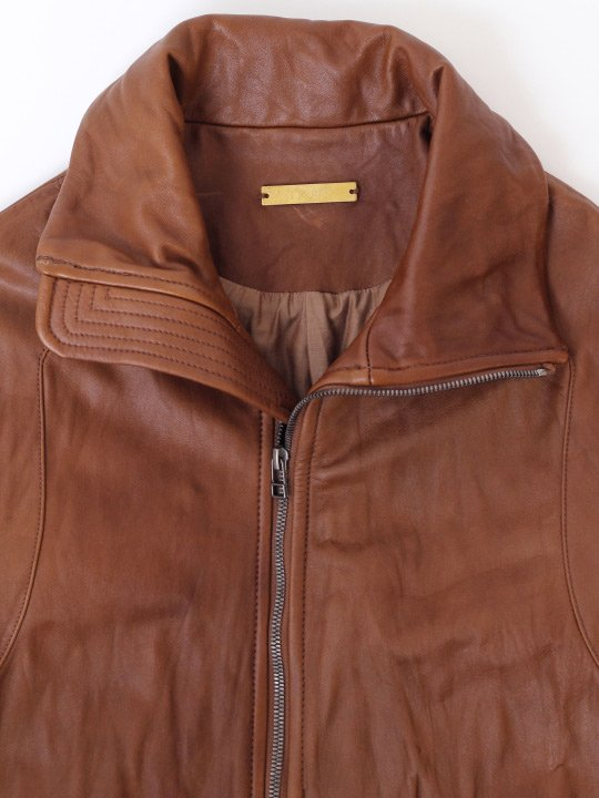 【予約商品】TROVE / SOLUMN LEATHER BLOUSON / CAMEL photo