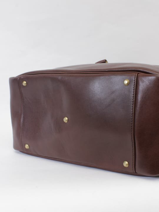【受注生産】BRITANNIA LEATHERS / BOSTON BAG / DARK BROWN photo