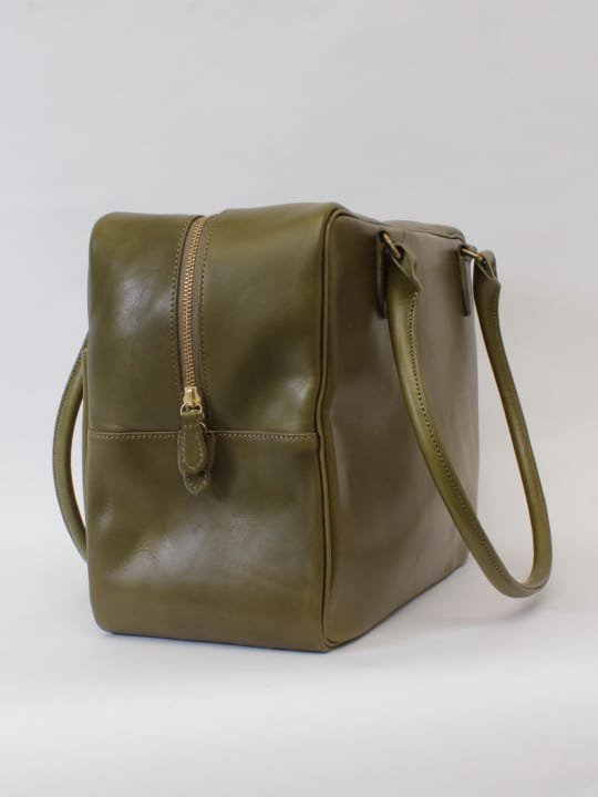 【受注生産】BRITANNIA LEATHERS / BOSTON BAG / OLIVE photo