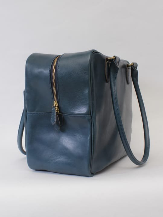 【受注生産】BRITANNIA LEATHERS / BOSTON BAG / NAVY BLUE photo