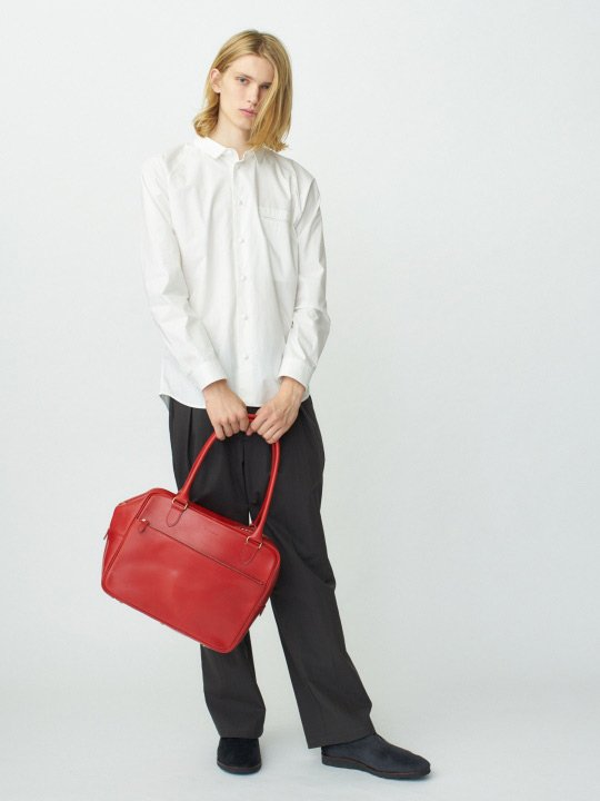 【受注生産】BRITANNIA LEATHERS / BOSTON BAG / RED photo