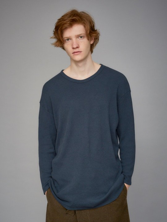TROVE / WIDE WAFFLE LONG SLEEVE / DARK GREEN photo