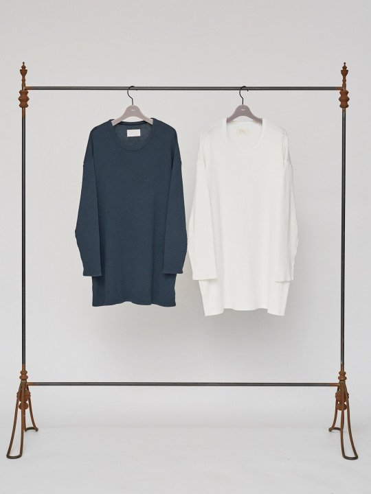 TROVE / WIDE WAFFLE LONG SLEEVE / WHITE photo