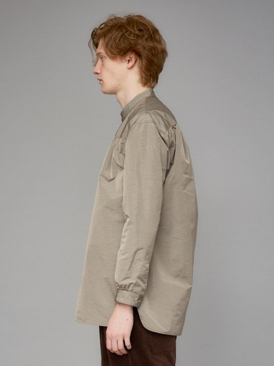 TROVE / POLY SHIRT / GRAY BEIGE photo