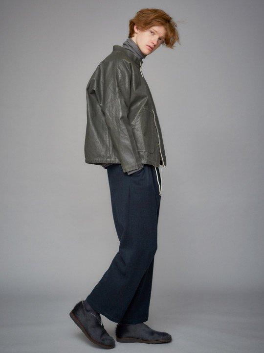 TROVE / MJUK WIDE PANTS / DARK GREEN photo