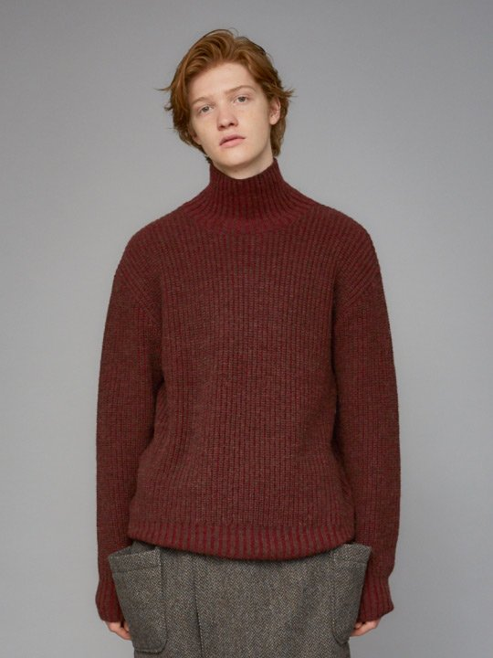 TROVE / MIX TURTLE KNIT / WINE BROWN photo