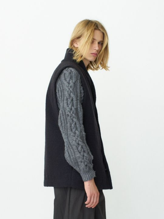 【予約商品】TROVE / LASSE VEST / NAVY CHARCOAL photo