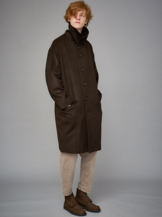 TROVE / SAPMI COAT / DARK BROWN photo