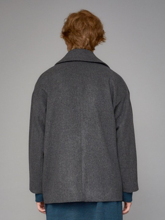 【予約商品】TROVE / MJUK WIDE P-COAT / GRAY photo