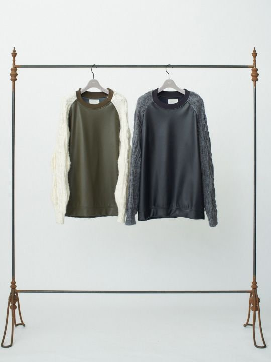 【予約商品】TROVE / KASI KNIT CREW NECK / KHAKI CREAM photo