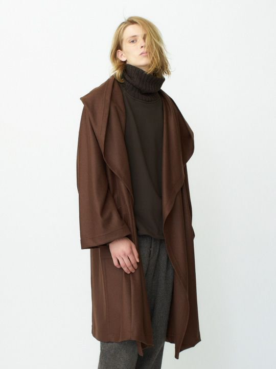 TROVE / KANGAS HOODED GOWN / DARK CAMEL photo