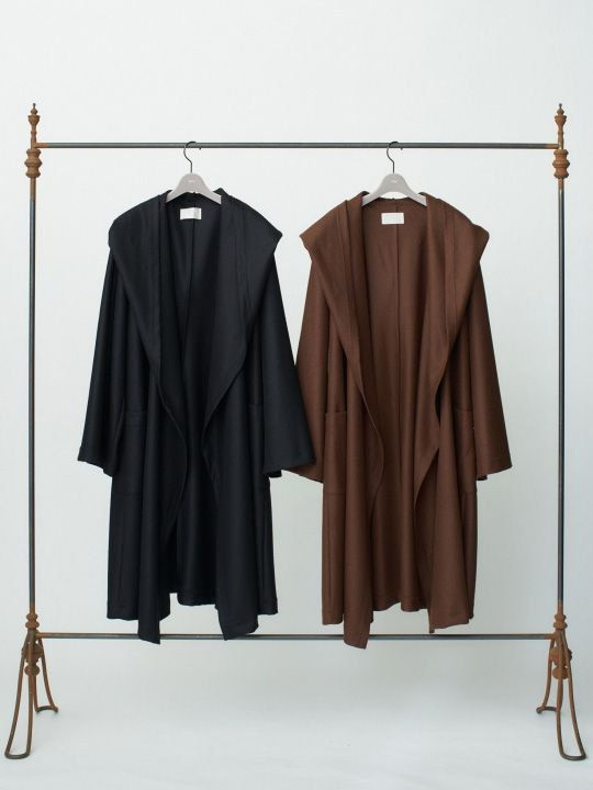 【予約商品】TROVE / KANGAS HOODED GOWN / BLACK photo