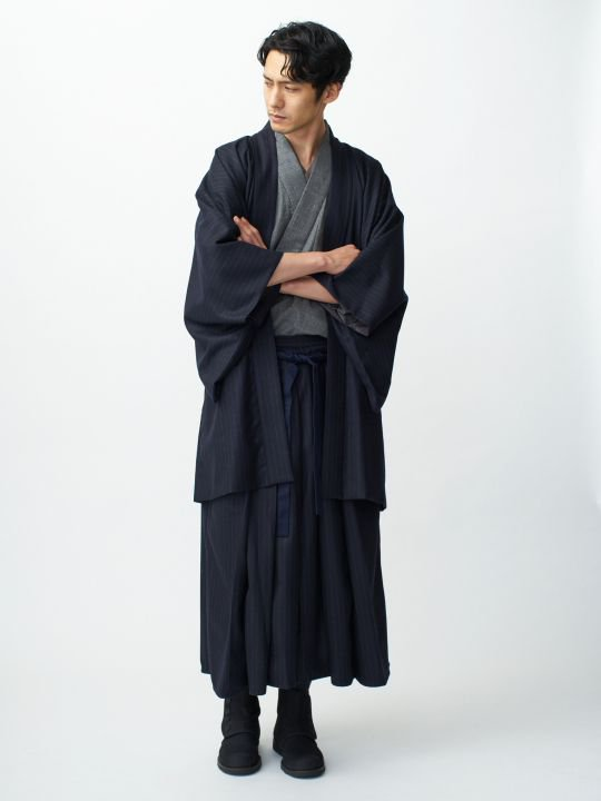 【 PRE-ORDER】WAROBE / WOOL HAORI / NAVY photo
