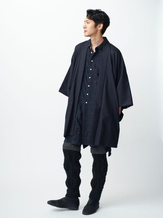 WAROBE / WOOL HAORI / NAVY photo