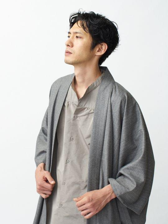 【 PRE-ORDER】WAROBE / WOOL HAORI / GRAY photo