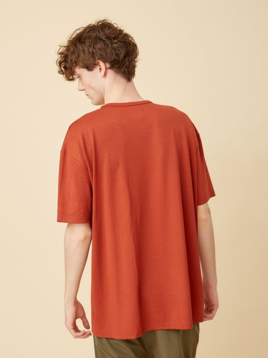 TROVE / WIDE POCKET TEE / ORANGE photo