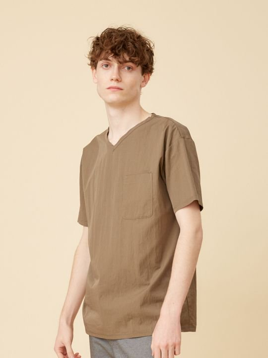 【予約商品】TROVE / ALUS V-NECK / MOCHA GRAY photo