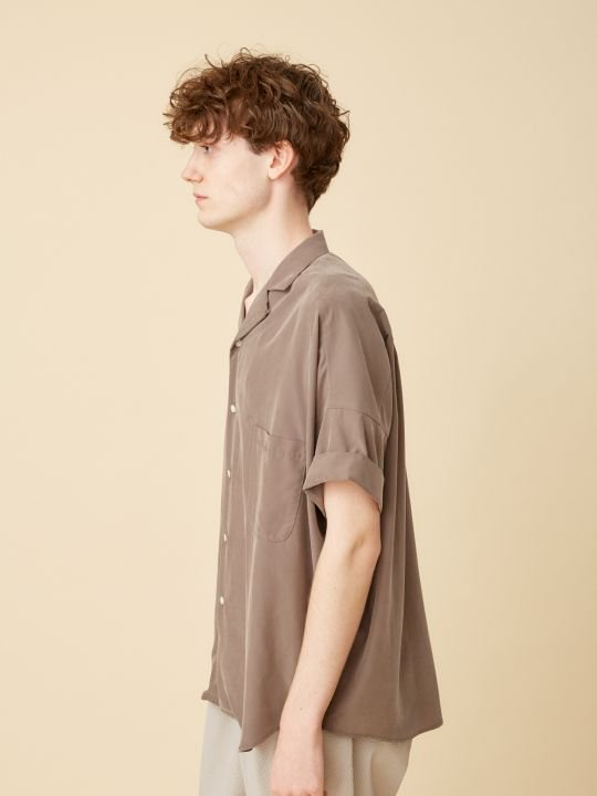 TROVE / VALO WIDE SHIRT / MOCHA GRAY photo