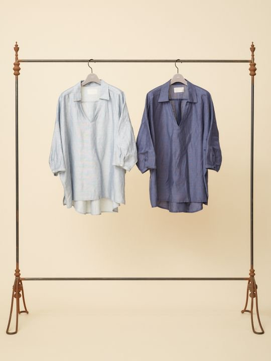 【予約商品】TROVE / WIND PULLOVER SHIRT / NAVY photo