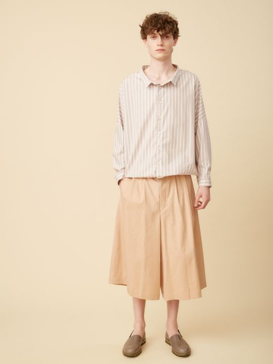 TROVE / UNI WIDE STRIPE SHIRT / ASH PINK photo