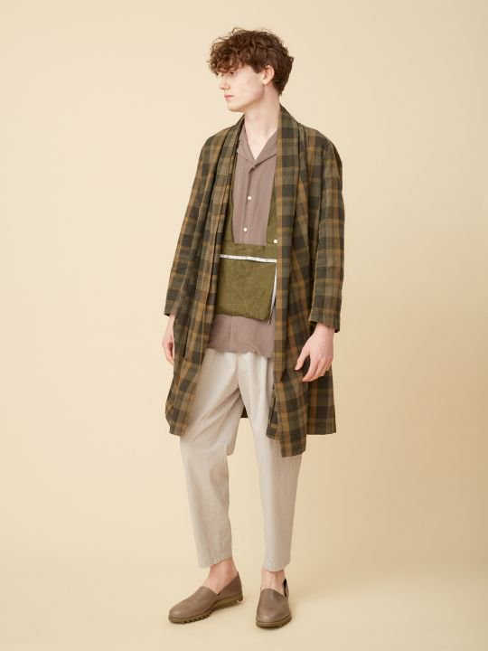 TROVE / KANGAS GOWN ( PATTERNED ) / BEIGE CHECK photo