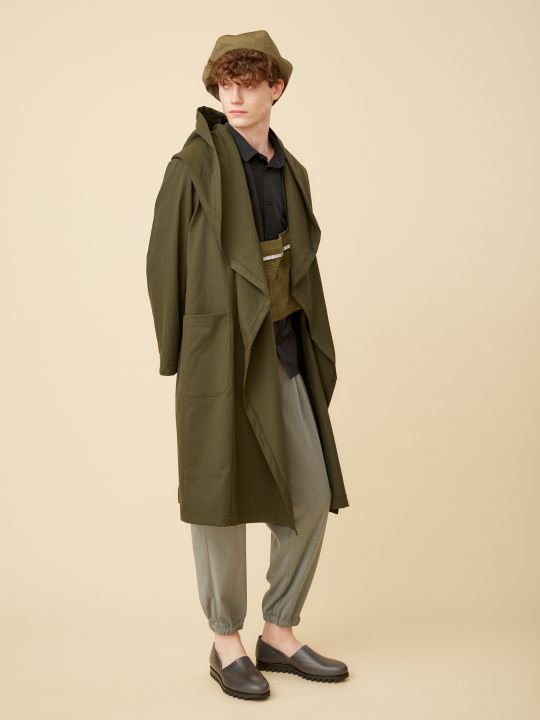 TROVE / KANGAS HOODED COAT / KHAKI photo