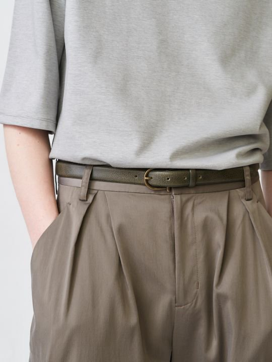TROVE / SULKA LEATHER BELT / KHAKI photo