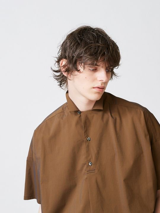 TROVE / VALO PULLOVER SHIRT / BROWN photo
