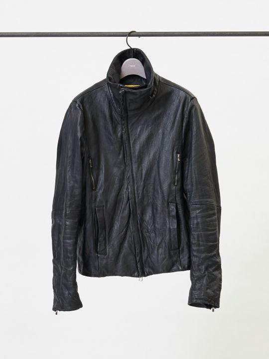 【予約商品】TROVE / SOLUMN LEATHER BLOUSON TYPE-2 / BLACK photo