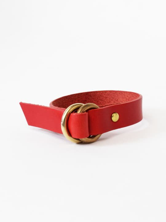BRITANNIA LEATHERS / RING BRACELET / RED photo