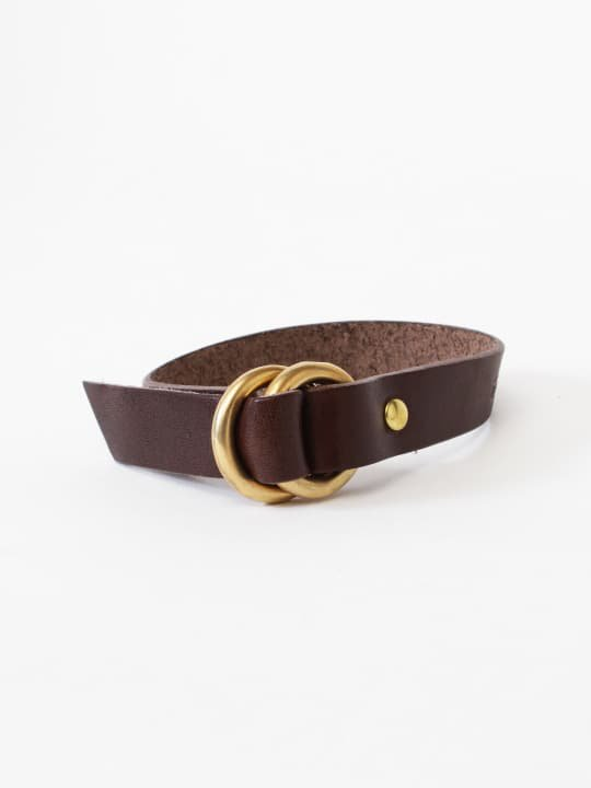 BRITANNIA LEATHERS / RING BRACELET / DARK BROWN photo