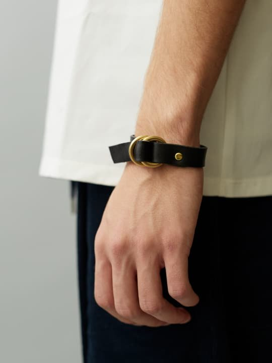 BRITANNIA LEATHERS / RING BRACELET / BLACK photo