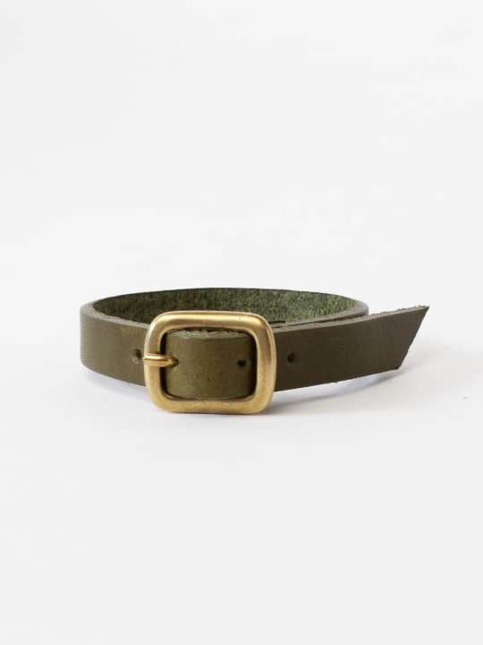 BRITANNIA LEATHERS / SINGLE BRACELET / OLIVE photo