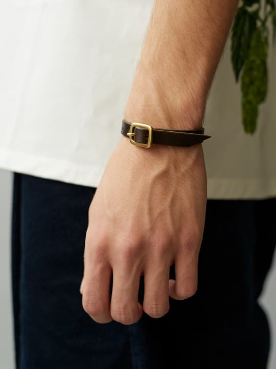 BRITANNIA LEATHERS / SINGLE BRACELET / DARK BROWN photo