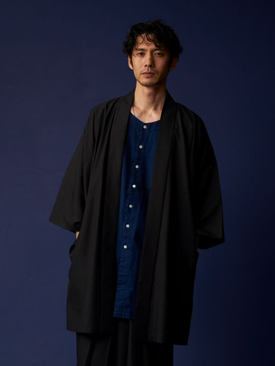 【 PRE-ORDER】2018春 WAROBE / HAORI / BLACK photo
