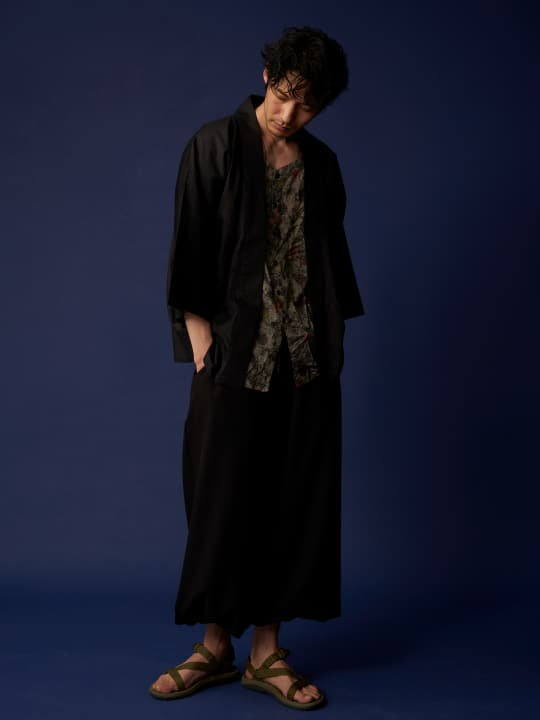 和ROBE / SATIN HANTEN / BLACK photo